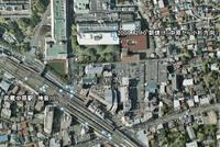 武蔵中原付近のグーグルアースのキャプチャ画像