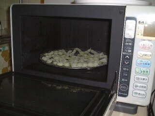 枝豆をオーブンレンジで焼く