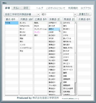 類語JP シソーラス検索サイト