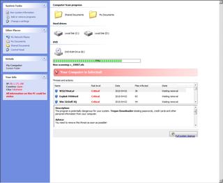 ウイルス駆除ソフトを装うマルウェア(Your Computer is Infected!)