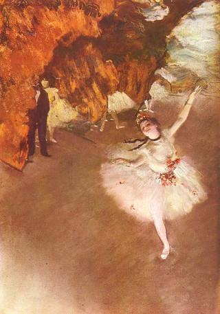 ドガ『エトワール、または舞台の踊り子』