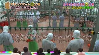 チキンナゲットの食肉処理(リアルスコープハイパーより)
