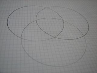 ダイソーのシャープペンタイプコンパスで描いた円