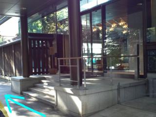 明治神宮の舗装ルート(神楽殿付近)
