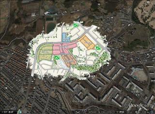 プラウドシーズン栗平 衛星画像 拡大