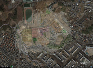 プラウドシーズン栗平 衛星画像 半透明