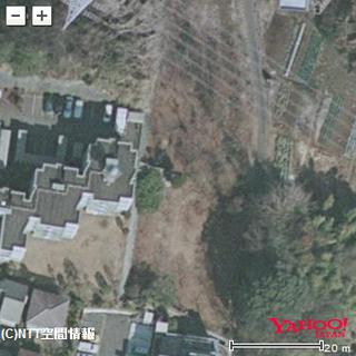 片平1丁目の住宅造成地(Yahoo地図の航空写真をキャプチャ)