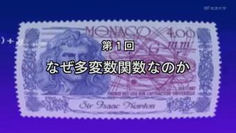 解析入門 '08のオープニング(ニュートンの肖像が載っているモナコの紙幣)
