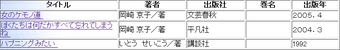 稲城市立図書館所蔵の岡崎京子の書籍