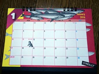オライリーのカレンダー2016年版(1月)