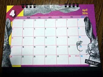 オライリーのカレンダー2016年版(4月)