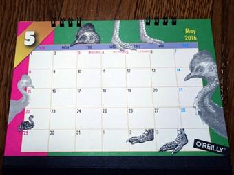 オライリーのカレンダー2016年版(5月)
