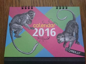 オライリーのカレンダー2016年版(表紙)
