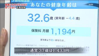 大江麻理子アナの健康年齢は32.6歳