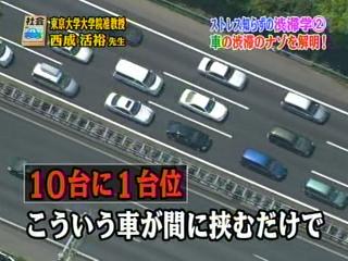 10台に1台で渋滞解消か
