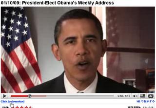 YouTubeにダウンロード機能(オバマ大統領の動画)