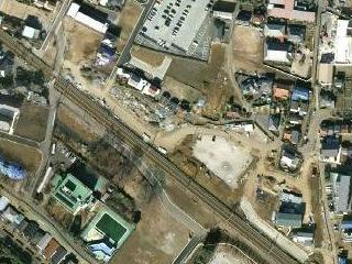グーグルマップ(航空写真) 西府駅付近