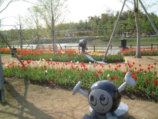 浜名湖花博 「のたね」の石像