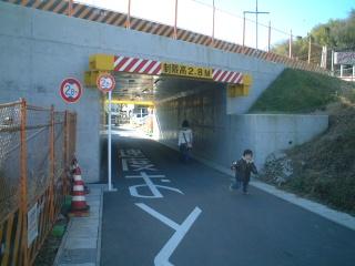 壁画が描かれる前のトンネル