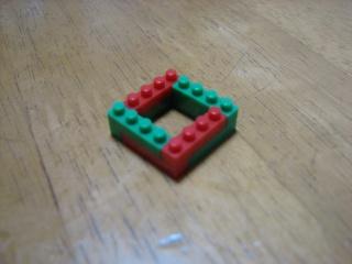 nanoblockで正方形を組む(5×5)