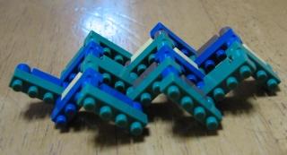 ナノブロック可動する組み方(ジグザグ)