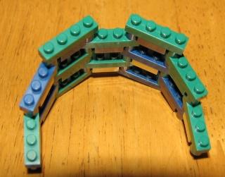 ナノブロック可動する組み方(円弧)