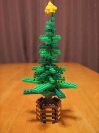 ナノブロックのクリスマスツリー(改良版)
