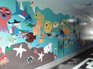 柿生のトンネルアート