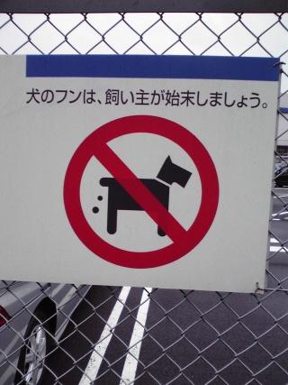 フンをする犬のピクトグラム