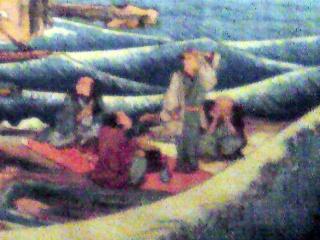 『相刕江之島岩屋之図』歌川広重を部分的に拡大