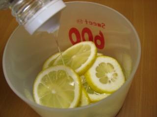 レシピはレモンにオリゴ糖をかけるだけ