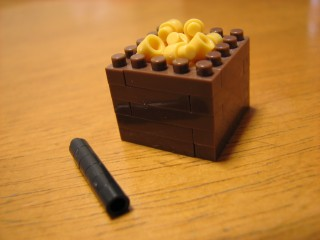 ナノブロック(nanoblock)で作った、大豆、升、恵方巻き