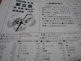 川崎市(幸区/多摩区/麻生区)の献立表