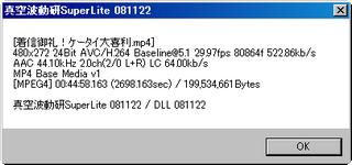 SPINNで再生できたH.264のファイル例(真空波動研)