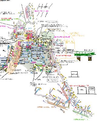 新宿駅構内図 各路線をつなげてみたもの