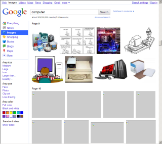 Google Images 新版 画像ロード待ち状態