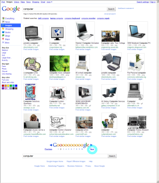 Google Images 旧版 「次へ」のリンク位置がずれる1