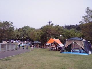 若葉台公園のテント1