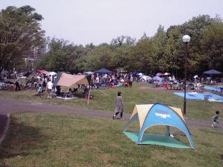若葉台公園のテント3