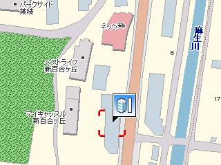 Nicole BMW 新百合ヶ丘支店付近(MapFan地図の素)