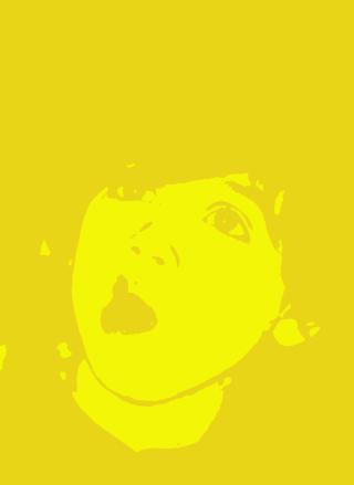 黄色と黄土色で二階調化