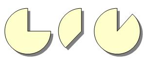 「その他のオートシェイプ」に扇形を変形