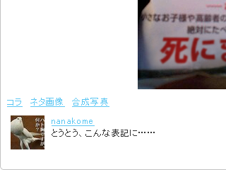 twippleでのNanakomeさんのツイート(ついっぷるフォト)