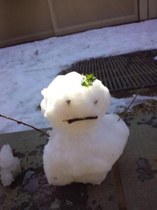 ミニ雪だるま(その2)