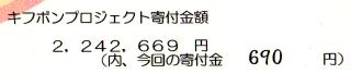 NPO法人「育て上げ」ネットには690円寄付されました