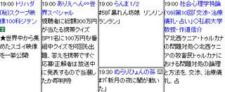 ゴールデン視聴率が1ケタになったしまった2011年6月14日のテレビ欄(テレ朝、テレ東、東京MX、放送大学)