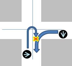 右折信号でUターンすると危険なケース