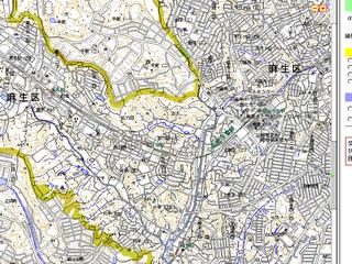 電子国土ポータル 縮尺1/18000地図表示