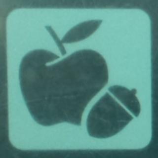 リンゴとドングリのピクトグラム