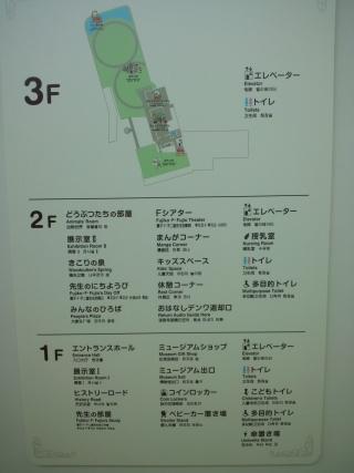 藤子・F・不二雄ミュージアムの案内板